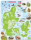 Map of Denmark/ Danmark with Animals - Frame/Board Jigsaw Puzzle 29cm x 37cm (LRS  K78-DK))
